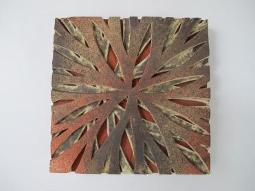 """Destellos de la tierra"", 2014, 6"" x 6"" (15 x 15 cm) en la Trienal Elit-tile 2014, Rep.Dominicana"