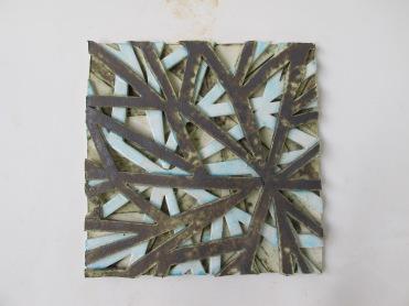 """Destellos de la tierra con agua"""", 2014, 6"""" x 6"""" (15 x 15 cm)"""